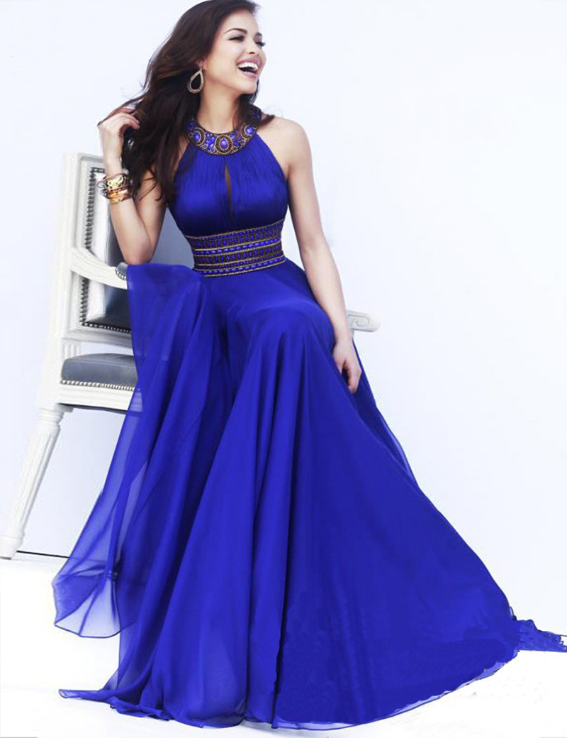 Online buy wholesale halter bridesmaids dresses from china halter dons bridal bridesmaid dress halter floor length chiffon sexy long sleeveless a line wedding guest ombrellifo Images