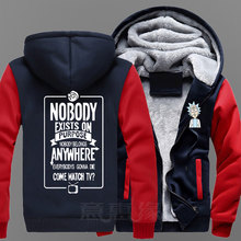 New Rick and Morty  Hoodie Anime Fans Coat Jacket Winter Men Thick Zipper Sweatshirt