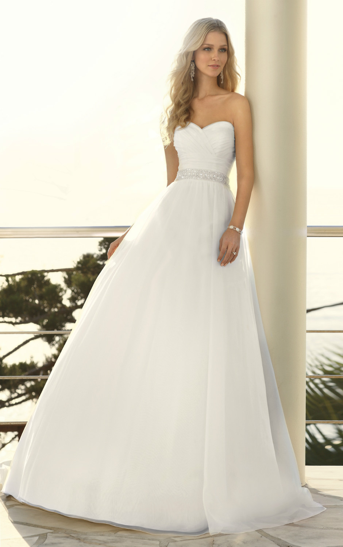 princess Organza beaded belt fairytale wedding dress ruched bodice ...