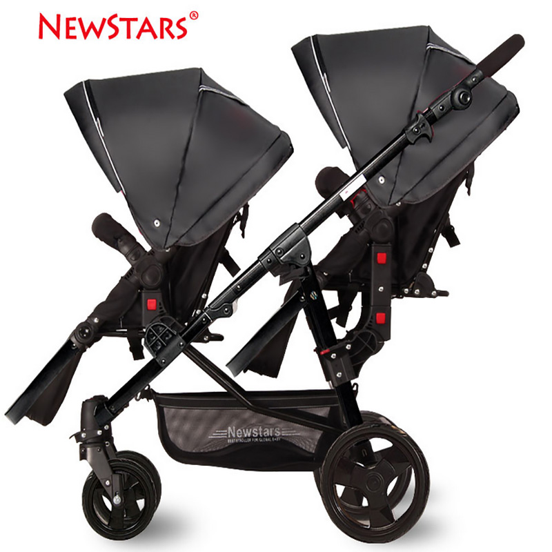 high landscape twins baby stroller folding ultra light double baby carriage travel system baby pushchairs kinderwagen carrinho Folding Twins Baby Stroller Light Weight Portable European Baby Carriage Double Directions Travel Pram