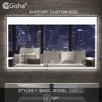 Gisha miroir intelligent miroir de salle de bain à LED mur salle de bain miroir salle de bain toilette Anti-buée miroir avec écran tactile Bluetooth G8201