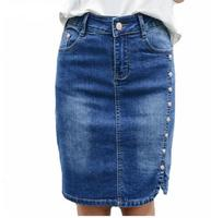 2017 Summer Pencil Denim Skirt Women Plus Size 9XL Elegant Women S Mini Skirts 2017 Slim
