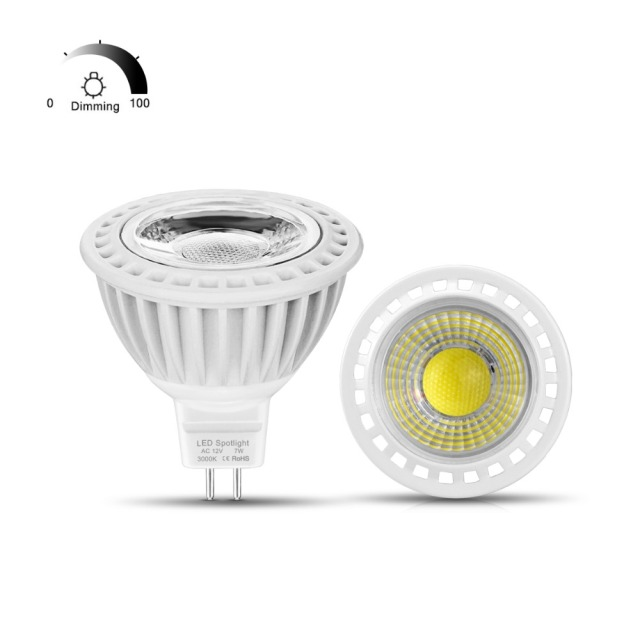 MR16 Dimbare Led Lamp COB LED Lamp gu5.3 3 W 5 W 7 W AC/DC 12 V Led ...