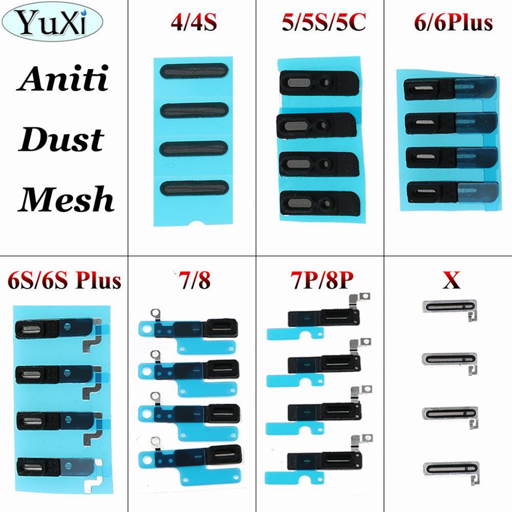 YuXi 10pc Ear Mesh Adhesive Ear Speaker For IPhone 8 7 6s 6 Plus 5 5s 4 4S X Inner Ear Earpiece Speaker Anti Dust Grill Mesh Net