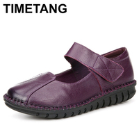 TIMETANG Handmade Soft Shoes Woman Genuine Leather Women Shoes Comfortable Loafers Women S Flat Shoes Fashion