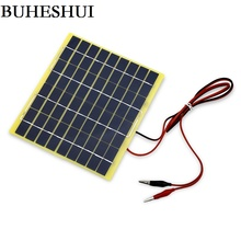BUHESHUI 5Watt 18V Solar Panel Solar Cell For 12 Volt Garden Fountain Pond Battery Charger DIY Charger 200*210*3MM Free Shipping