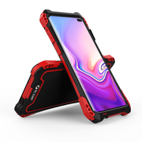 Shockproof Heavy Duty Hybrid Rugged Armor Phone Case for Samsung Galaxy S10 S10 Plus Carbon fiber Metal Case Cover