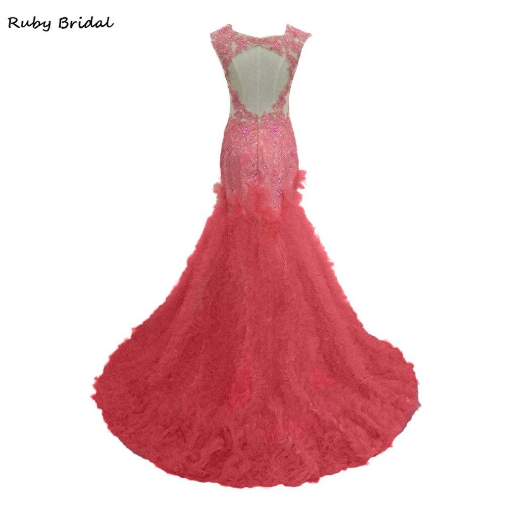 Único Rubí Rojo Vestidos De Dama Colección de Imágenes - Colección ...