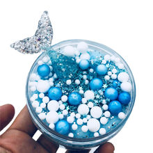 2018 HOT NEW Mermaid Mixing Cloud Slime Squishy Putty Scented Stress Kids Crystal Clay Toy Aug15(China)