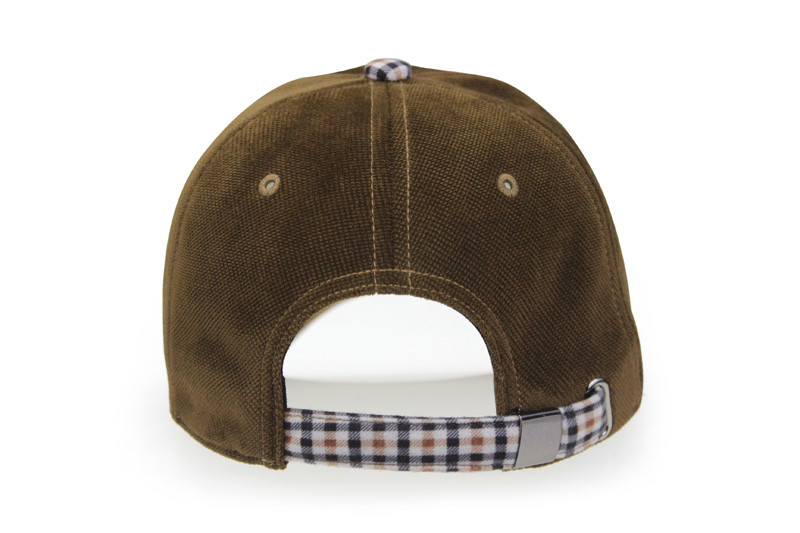 Brushed Cotton Baseball Cap - Rear View
