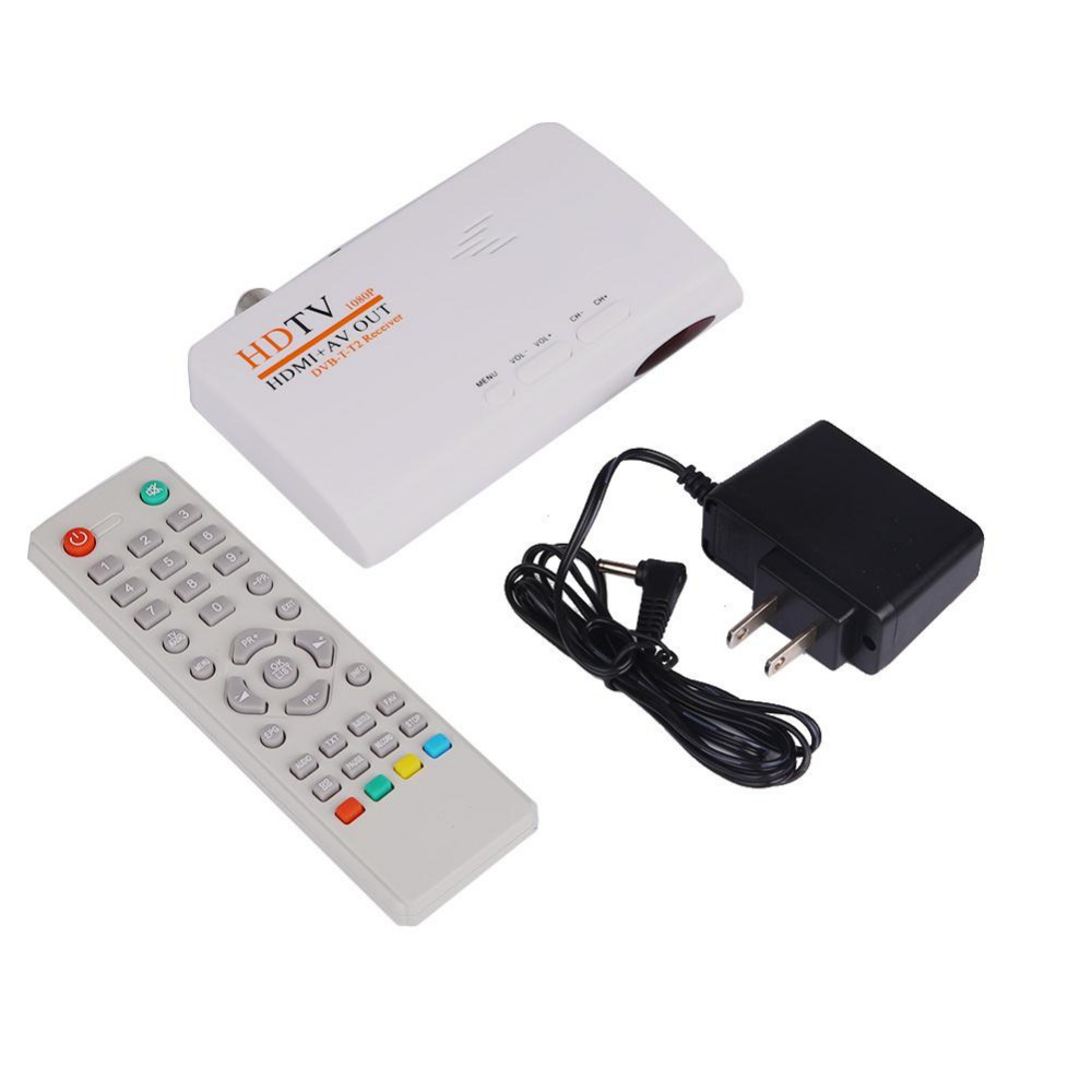 LNOP HDMI HD 1080P DVB-T DVB-T2 TV Box AV CVBS Tuner Receiver Compatible With CRT and LCD Without VGA Version Remote Control