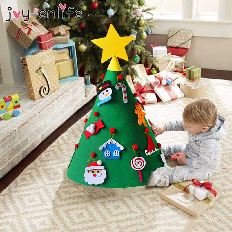 Top Christmas Gifts 2019 For Kids: JOY ENLIFE 3D DIY Felt Christmas Tree With Ornaments Kids