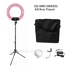 """Yidoblo Różowy FD-480II 18 """"możliwość przyciemniania LED Pierścień Zestaw lampy 480 LED Lampa Światła Oświetlenie Fotograficzne Studio Wideo + stojak (2 M) + Miękka torba"""