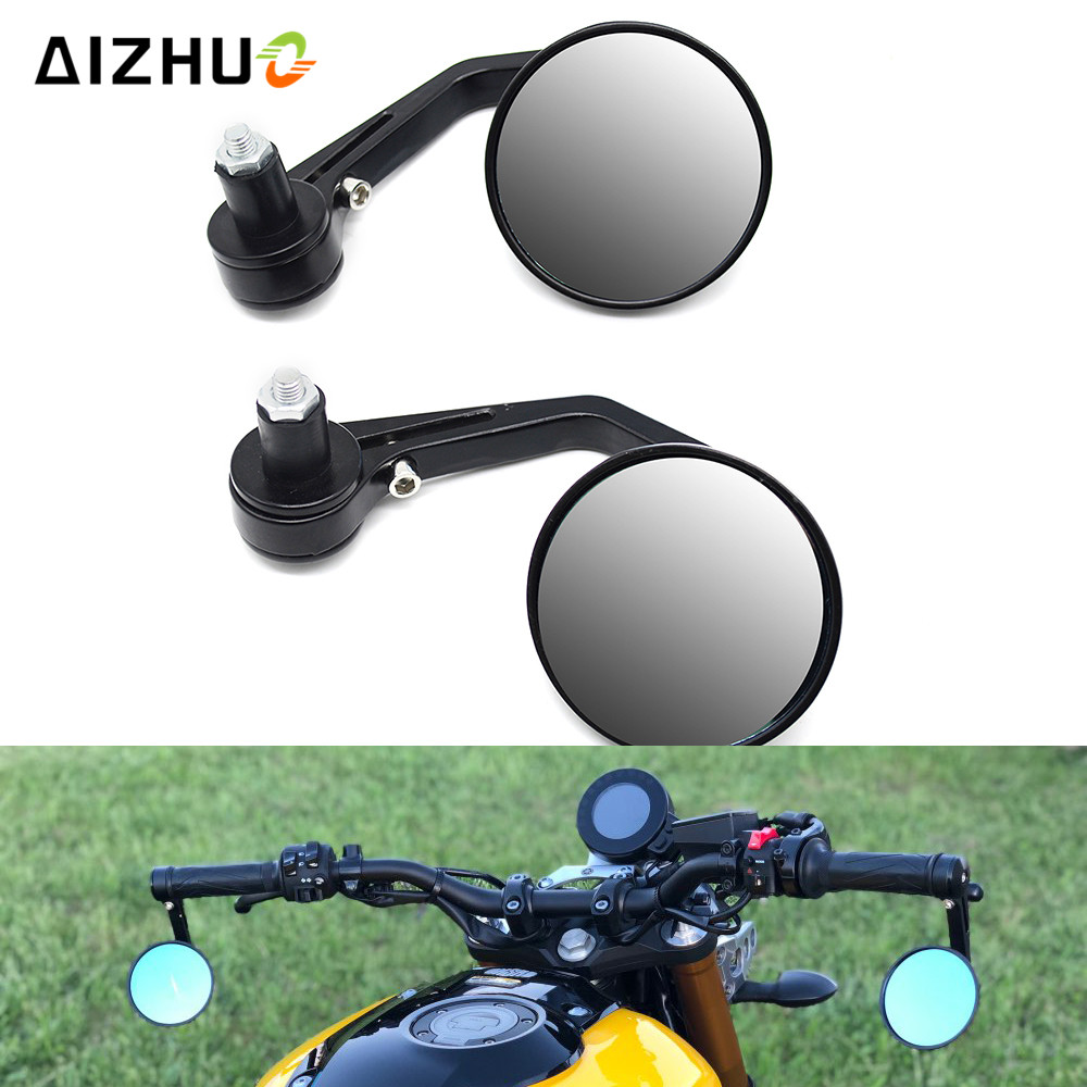 7 8 Motorcycle Cafe Racer Rearview Mirror Aluminum Handlebar End Rear View Mirror For Yamaha FZ6