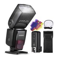 Andoer AD560 IV Pro sur appareil photo Speedlite Flash lumière déclencheur couleur filtres diffuseur chaussures chaudes pour Canon Nikon Sony appareil photo