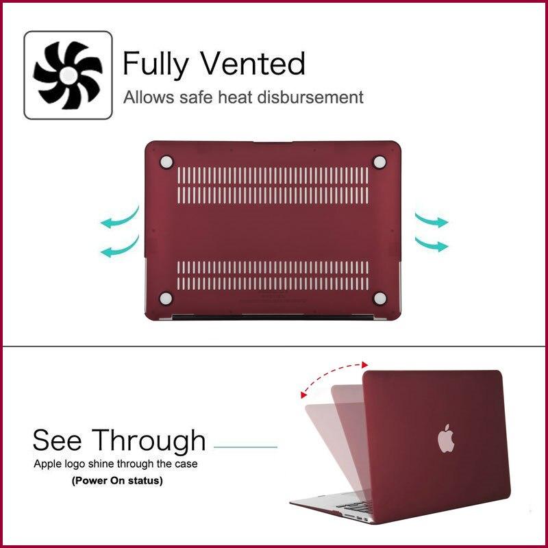 Image 4 - Mosiso 2019 matte capa dura para macbook pro 13 retina 13 15  modelo a1502 a1425 a1398 capa para mac book 13.3 polegadaBolsas e  estojos p/ laptop