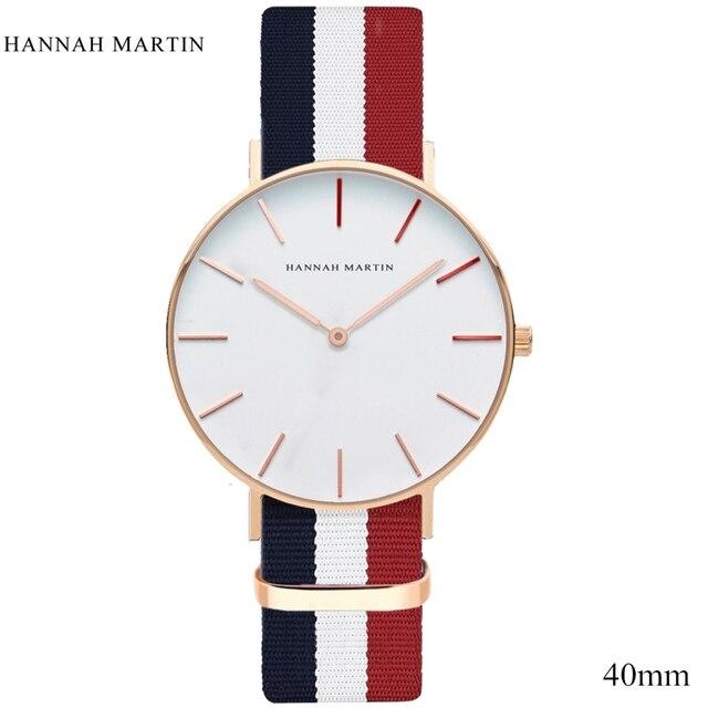 f11e98f0aa1a Hannah Martin marca de lujo relojes de las mujeres de los hombres Neutral de  moda Casual