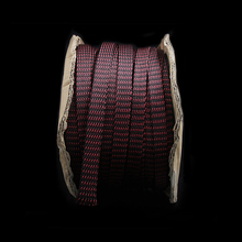 "5 M אדום/שחור חשמל HIFI אודי צינור שרוולים שרוול כבל קלוע PET מגן נחושת 16 מ""מ"