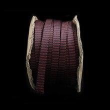 5 M Red/đen HIFI Power Audio Sleeving Cáp Braided PET Lá Chắn Đồng 16 mét ống tay áo
