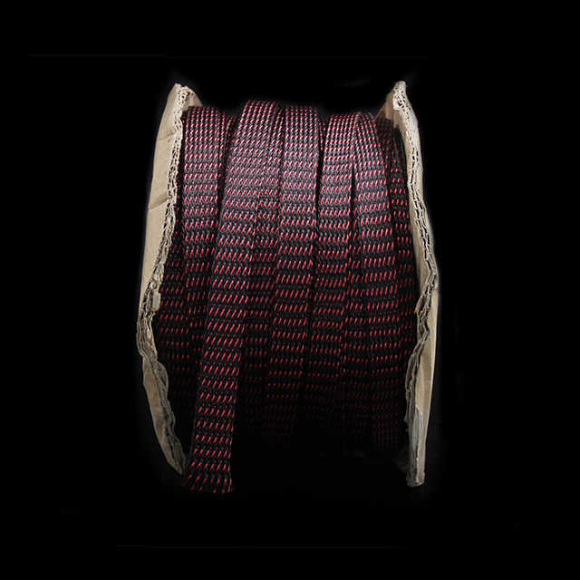 5M Red/black HIFI Power Audio Cable Sleeving Braided PET Copper Shield 16mm tube sleeves