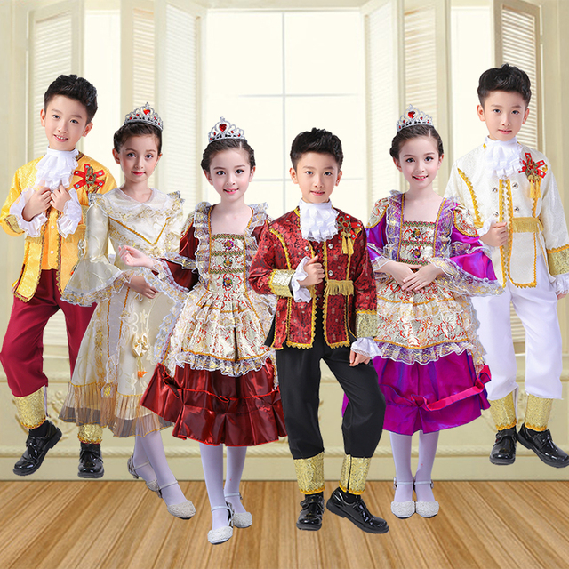 14bbdfd2fb4 Children s European Palace Costume Princess Dress Prince Performance  Russian Russian Stage Costume