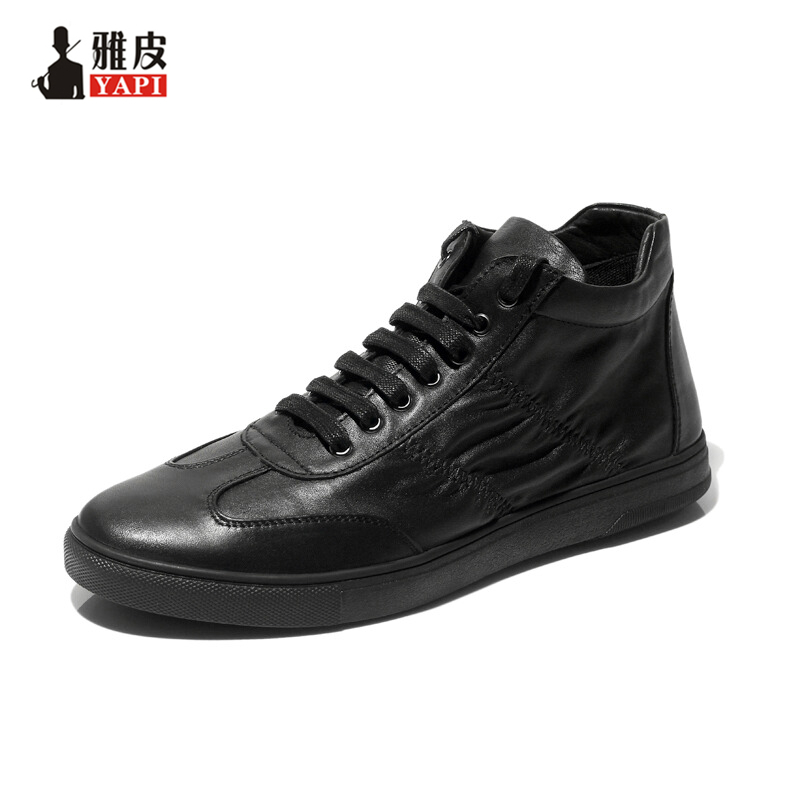 Hight Quality Genuine Leather Mens Ankle Boots Lace Up Boys Fashion Martin Boots Winter Trendy Sneaker Shoes maggie s walker kids boys girls winter boots genuine leather fashion martin boots teenage military ankle boots school shoes