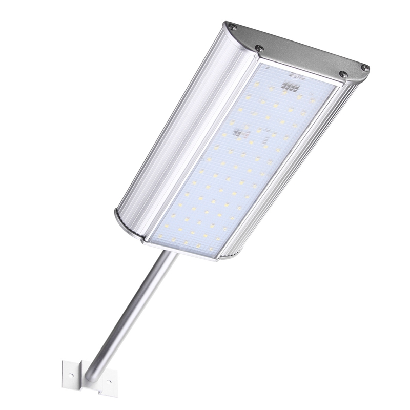 Microwave Motion Sensor SMD2835 70 Led Solar Light Solar Powered Outdoor Waterproof Garden Light Wall Street Lamp Pure white