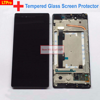 LCD Display Touch Screen Digitizer Glass Panel Assembly With Frame For Lenovo VIBE Shot MAX Z90