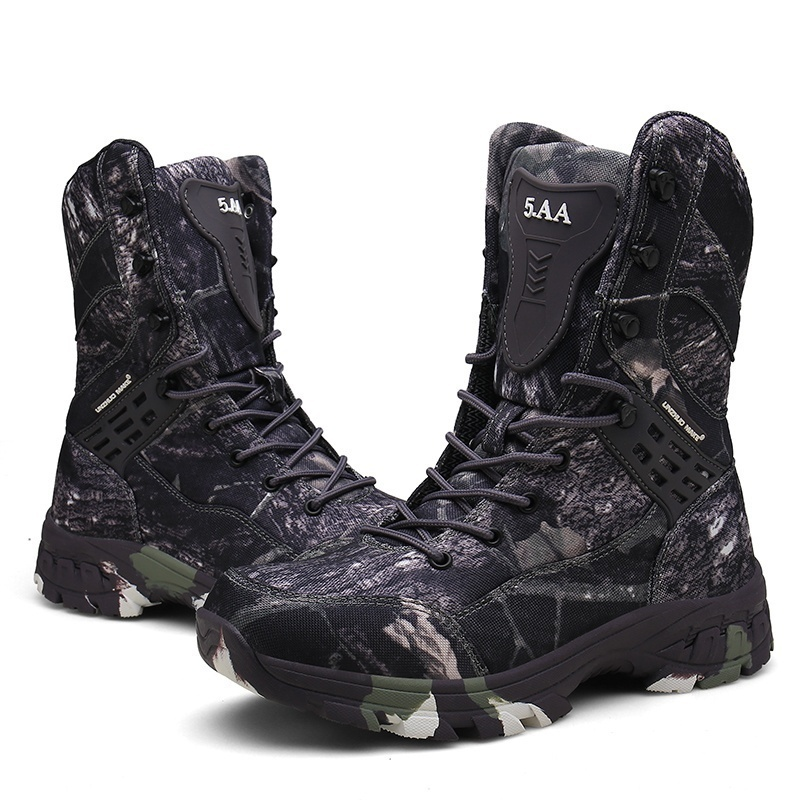 Waterproof Men Tactical Military Boots Desert Boots Hiking Camouflage Mountaineering Mens Boots Zipper Work Mens Shoes