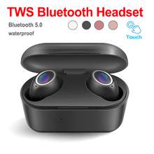 TWS Touch Control Wireless Headset 5.0 True Earbuds Sports Earphones With Charging Compartment Automatic Connection