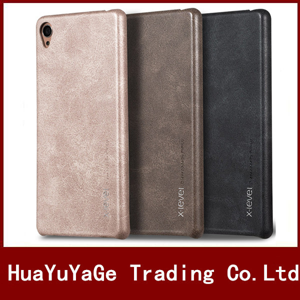 cheap for discount 8da80 98b85 US $8.7 |HYYGEDeal Phone Cases PIPILU X Level vintage PU Leather luxury  back case cover for Sony Xperia X Compact X performance-in Half-wrapped  Case ...