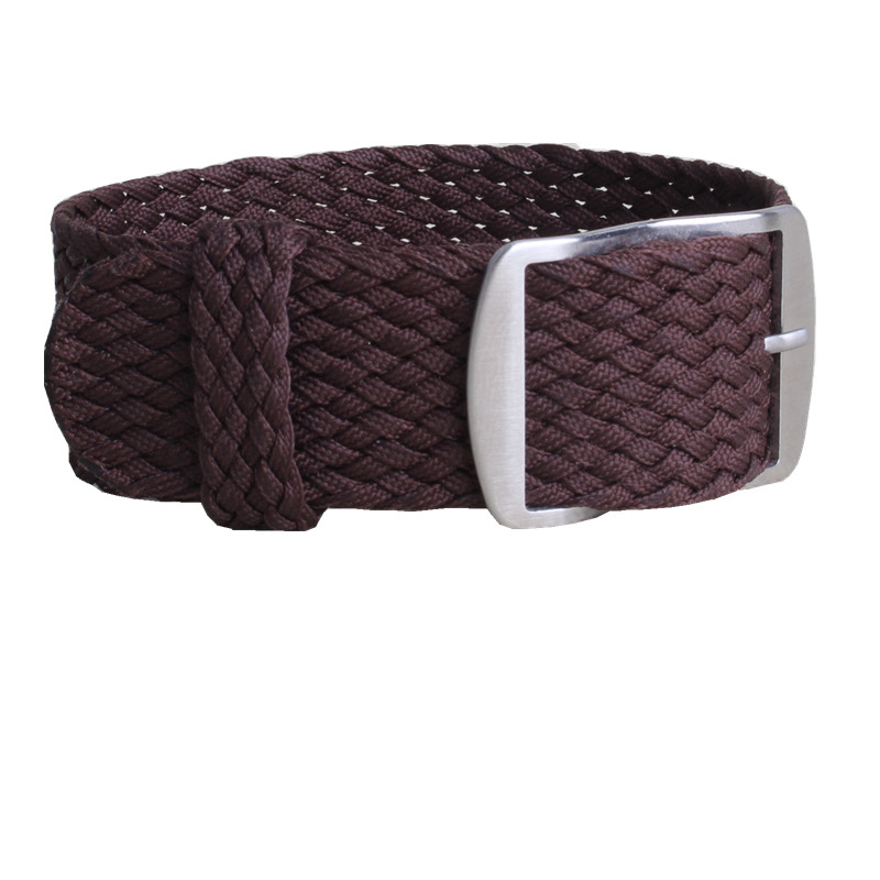 1 PCS / Wholesale Fashion NATO nylon Brown WATCHBAND 20mm 22mm waterproof nylon perlon watch strap For Men and women