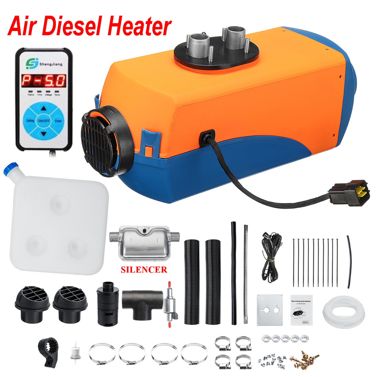 12V 5KW Diesels Air Parking Heater Digital Display Parking Heater with Free Silencer For Trucks Boats Bus Car Trailer Heater12V 5KW Diesels Air Parking Heater Digital Display Parking Heater with Free Silencer For Trucks Boats Bus Car Trailer Heater