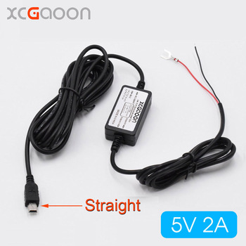 XCGaoon Car Charger DC Converter Module 12V 24V To 5V 2A with Straight mini USB Cable fit Car DVR Camera GPS Cable Length 3.5m image