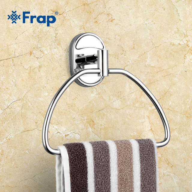 Frap 1 Set Stainless Steel Ring Wall Mount Chrome Towel Ring Bathroom  Accessories Bath Towel Holder