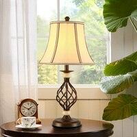 Американский стиль настольная лампа прикроватная тумбочка для спальни оригинальность уютная спальня настольная лампа Европейский стиль р