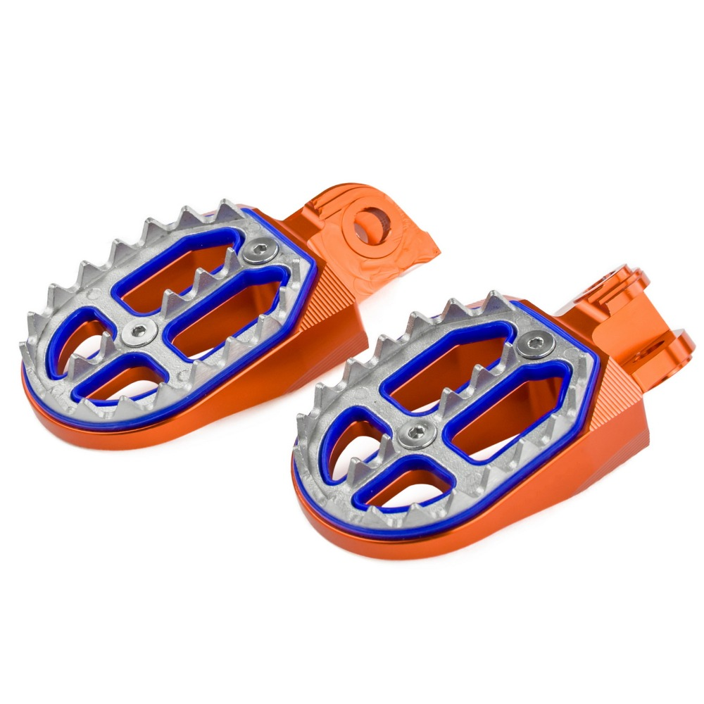 Pro Bites Foot Pegs Rests Flat Teeth Footrest Pedals For KTM 50 65 85 125 250