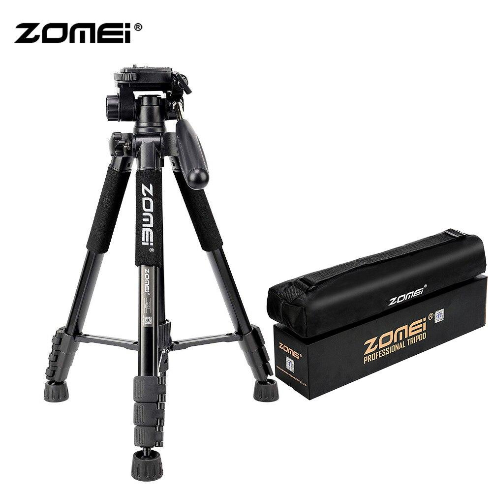 ZoMei Q222 Camera Tripé & Monopé SLR Tripé de Viagem Portátil Estande DSLR com 3-Way Pan Cabeça e Transportar saco para Nikon Canon Sony