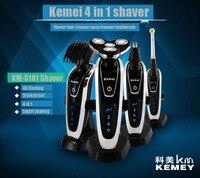 T125 3D Electric Shaver Kemei Men Shaving Machine Nose Hair Trimmer Toothbrush Barbeador 4 In 1