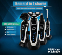 T125 3D Electric Shaver Kemei Men Shaving Machine Nose Hair Trimmer Toothbrush Barbeador 4 In 1