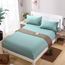 Bed Sheet Without Pillowcase Solid Color Bed Linen Queen Size Mattress Cover Fitted Sheet Sets With Elastic For King Size