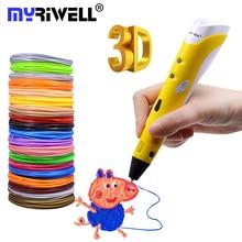 Myriwell Lapiz 3d Magic Pen for Kids Christmas Birthday Gifts Best Smart 3d Drawing Pen 3d Printer Pen with ABS PLA Filaments цены онлайн