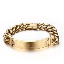 Titanium Jewelry Korean Cross Curved Brand Bracelet Mens Gold