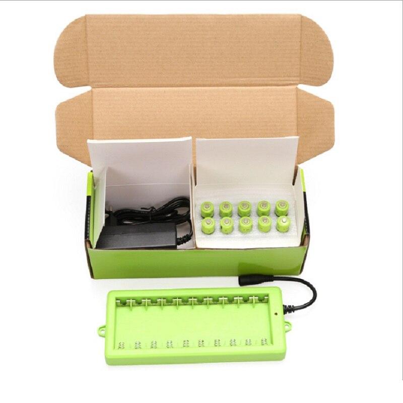 ZNTER 10 Pçs/set AA Bateria Recarregável de 1.5 V 2A 1250 mAh Bateria Bateria De Lítio de Carregamento USB com Cabo Micro USB e carregador - 4
