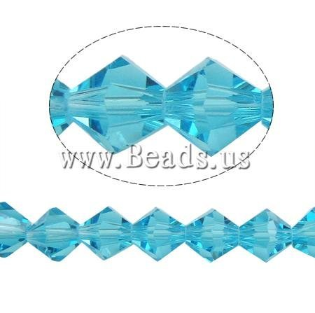 Crystal Beads, Bicone, faceted, 8x8mm, Hole:Approx 1.5mm, 41pcs/Strand