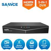 SANNCE 16CH 5IN1 1080N AHD TVI CVI IP CVBS DVR 1080P HDMI Output Recorder H.264 Home Security System Motion Detection