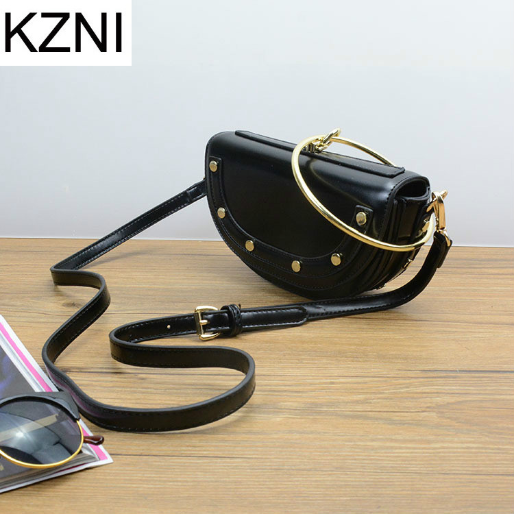 KZNI genuine leather bag woman bags 2017 bag handbag fashion handbags sac a main femme de marque luxe cuir 2017 L032916