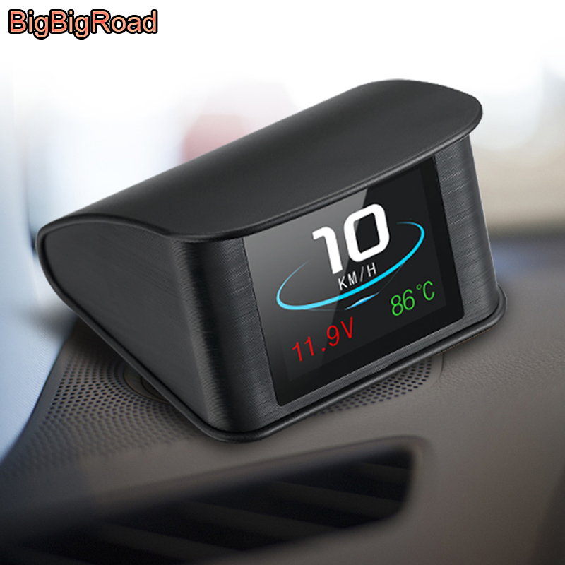 BigBigRoad For Citroen Xsara Grand C4 C5 Aircross Picasso Elysee Car Hud OBDII Windscreen Projector Head Up Display Speed Warn bigbigroad for ford focus f150 raptor gt rs mustang explorer escape ranger car hud obdii windscreen projector head up display