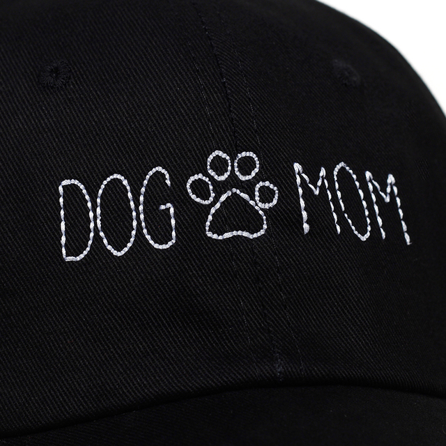 Women's Embroidered Cotton Dog Cap