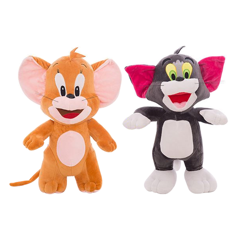 1PCS 30cm  Baby Toys Cat Tom And Jerry Mouse Plush Stuffed Toys Dolls Boneca Pelucia Brinquedos Learning&Education For Kids 30cm mickey mouse and minnie mouse toys soft toy stuffed animals plush toy dolls